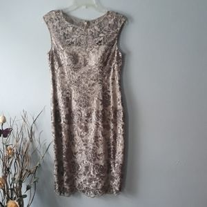 Adrianna Papell Sleeveless Sequined Dress